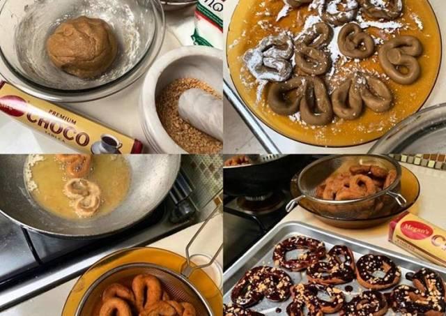 Glutinous Doughnuts w/Cocoa Tablea dip