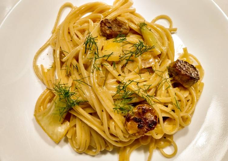 Pasta with Italian sausage, fennel and cream