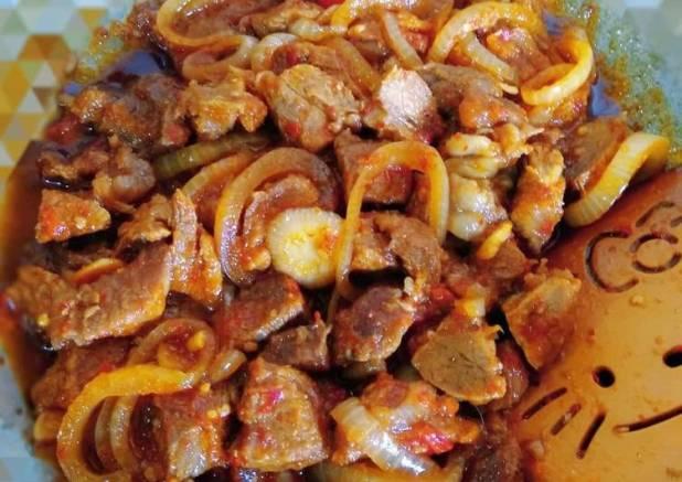 Oseng Mercon daging sapi