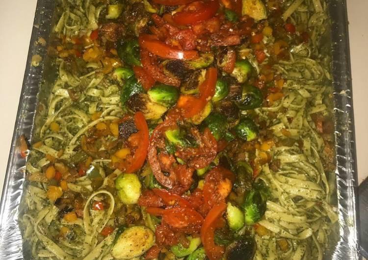 Vegan Pesto Fettuccine