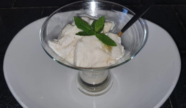 Vegan Pineapple Ripple Ice Cream