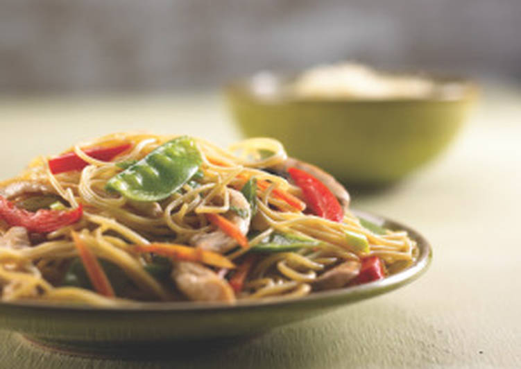 Angel Hair Pasta with Chicken and Spring Vegetables