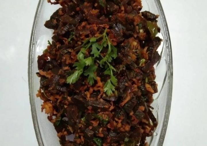 Beetroot poriyal(Kerala special)