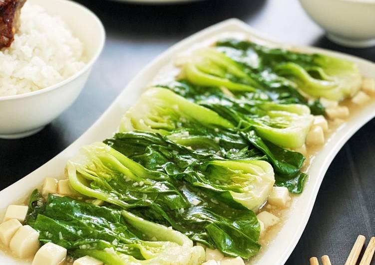 Japanese Tofu Bok Choi Oyster Sauce