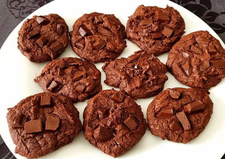 Cookies façon brownie vegan de perleensucre