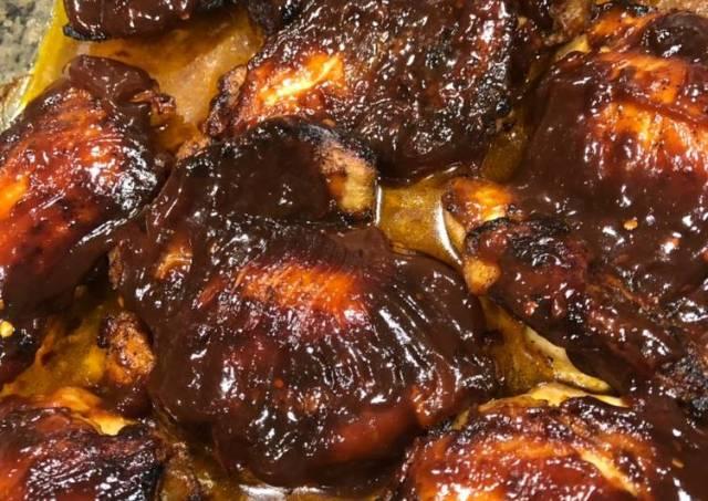 Balsamic Glazed Roasted Chicken Thighs