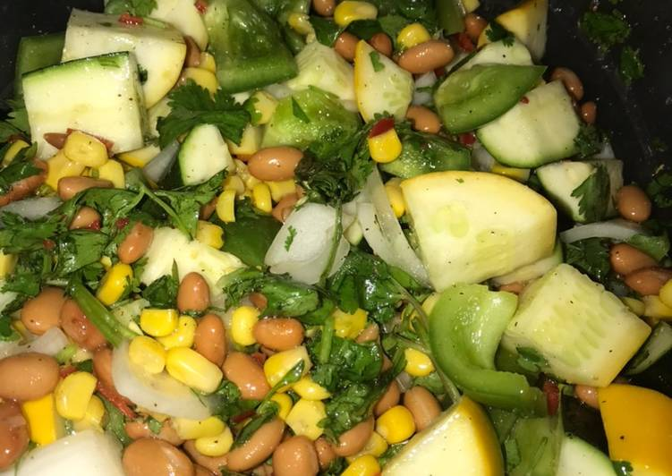 Bean, corn, pepper salad