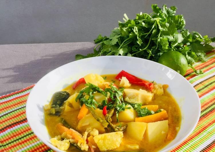 Curry de légumes/coco/citron vert