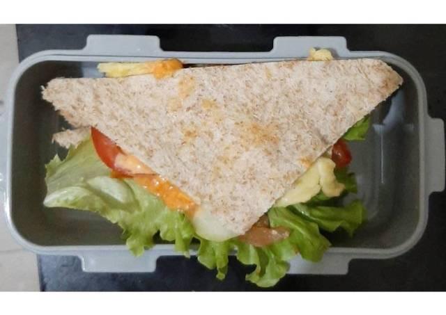 Sandwich Telur Bekal Sarapan