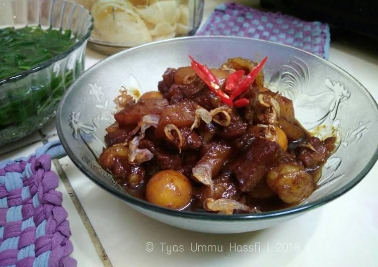 Semur Daging Telur Puyuh (#PR_AnekaSemur)