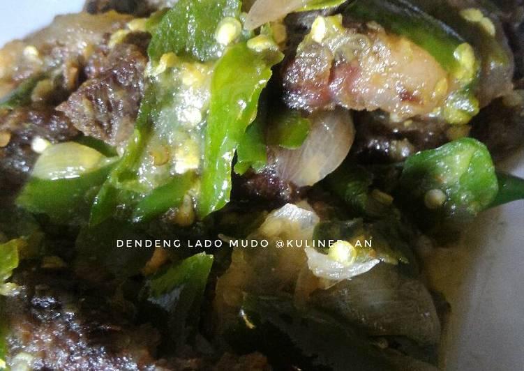 Daging Sambel Ijo / Dendeng Lado Mudo