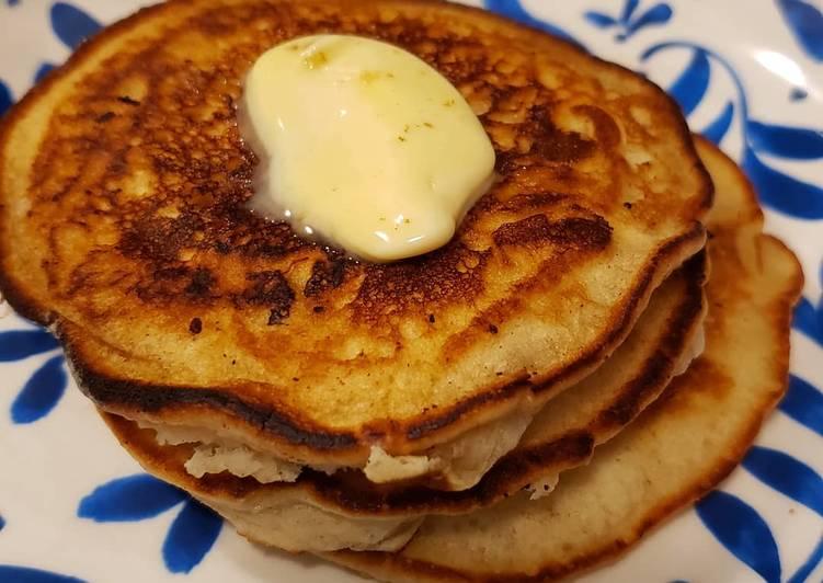 Silver dollar vegan pancakes