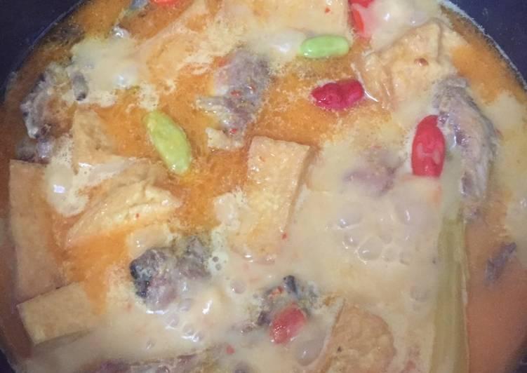 Gulai Ayam Tahu Simple