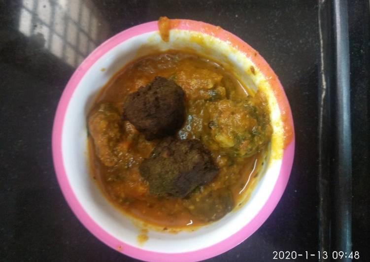 Palak kofta curry