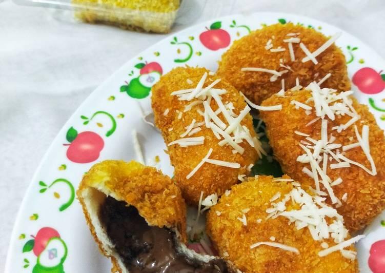 Resep Roti Tawar Coklat 4 Bahan🍫 Paling Gampang