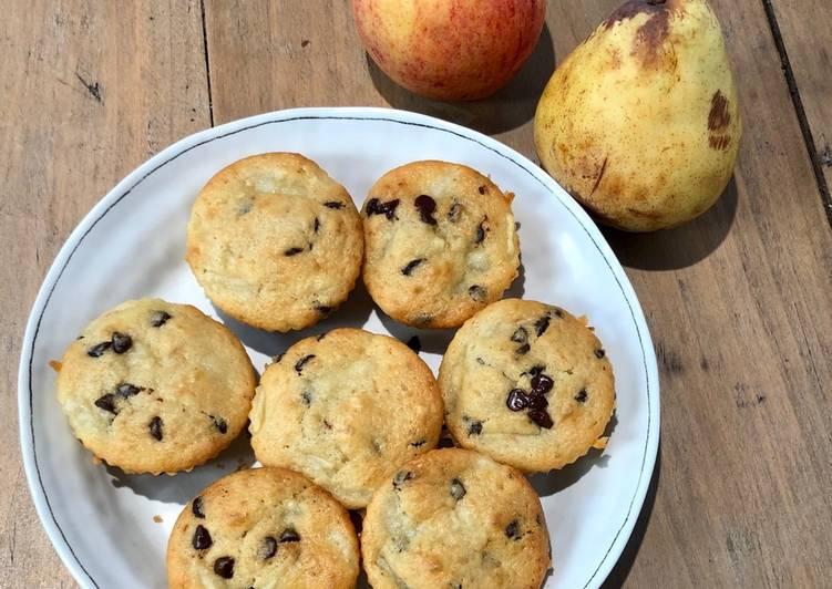 Muffin poires-chocolat