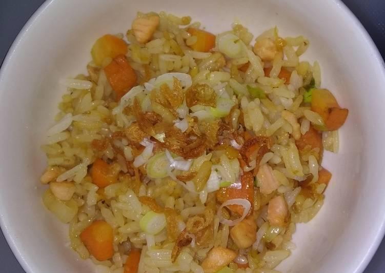 Nasi goreng salmon+wortel