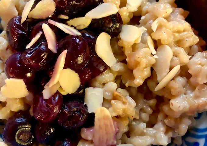 Baked rice pudding - vegan