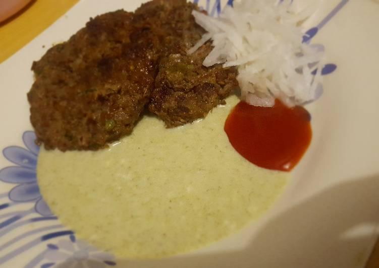 Kachay Qeema ka kebab