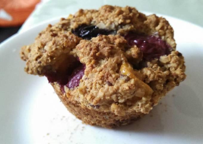 Oats, Jackfruit and Blueberry Muffins (gluten, egg, sugar free)