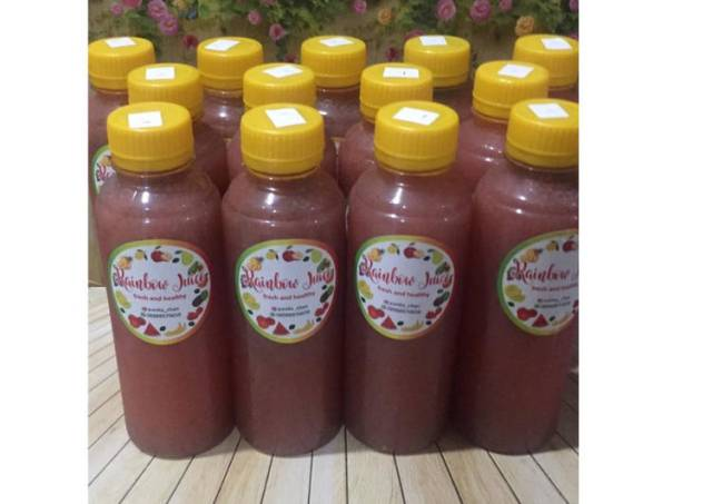 Diet Juice Pomelo Grape Strawberry Apple Chiaseed