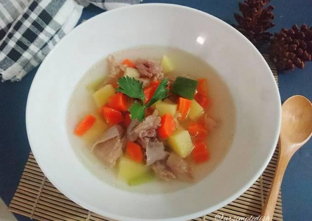 Sup Bening Daging Sapi