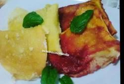 Preparazione di ricette Tricolore di Crêpes a fazzoletto🇮🇹 delizioso