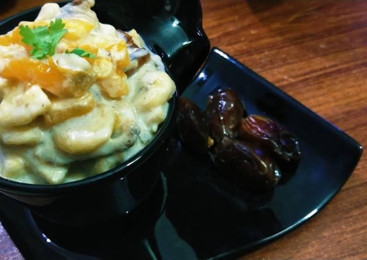 Cream fruit chaat