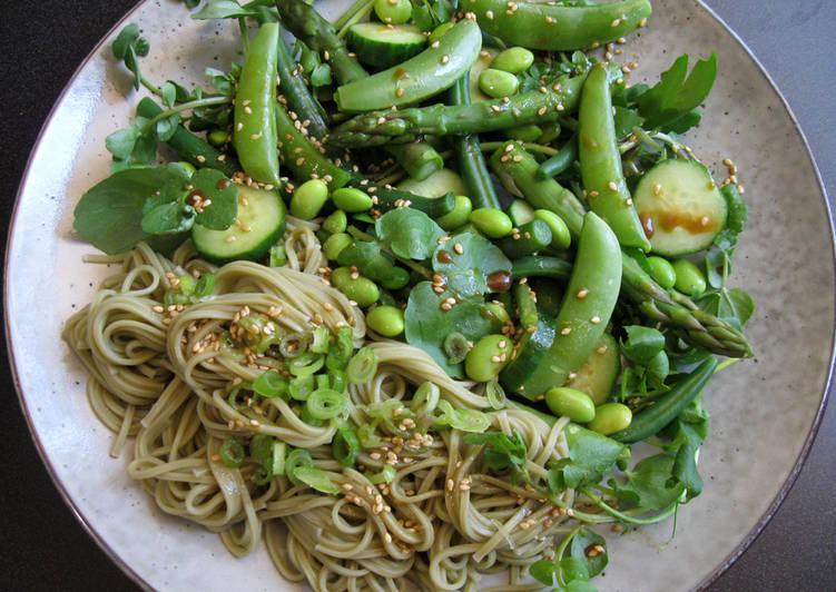 Green 'Cha-Soba' Noodle Salad