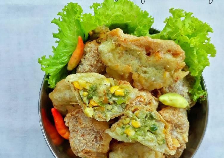 Tagar (Tahu Garing) Isi Sayur Lombok Ijo atau Cabe Ijo
