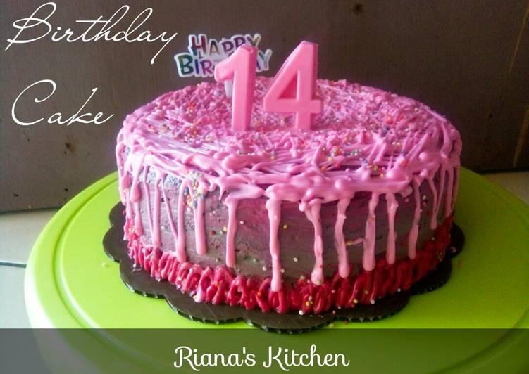 #Cake ultah dari bahan2 sisa enak lembut
