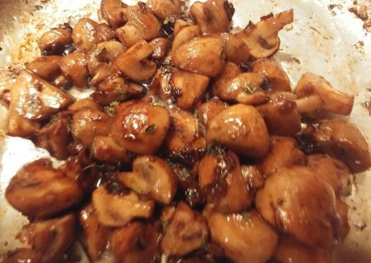 Joes' oven roasted mushrooms