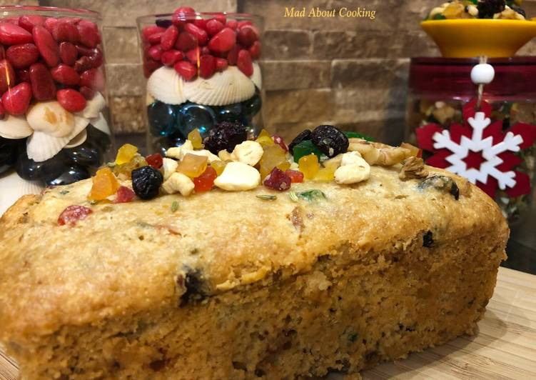Sooji Atta Fruit Cake (Whole Wheat Rava Fruit Cake) – Christmas Special