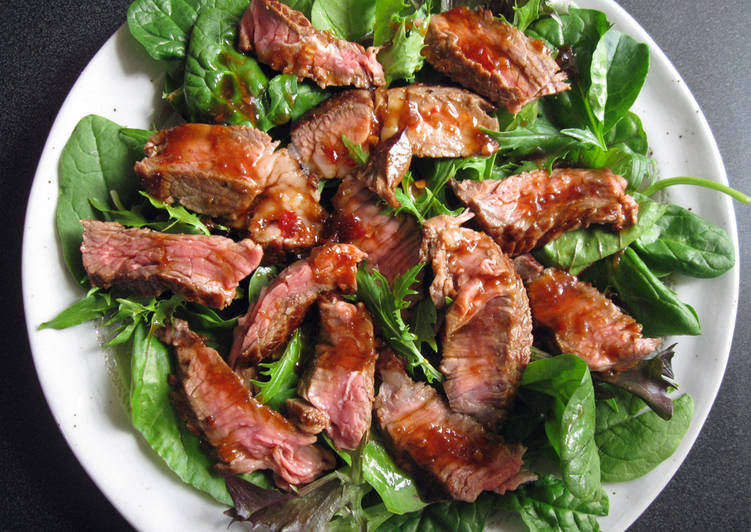 Steak Salad with Ponzu Based Dressing