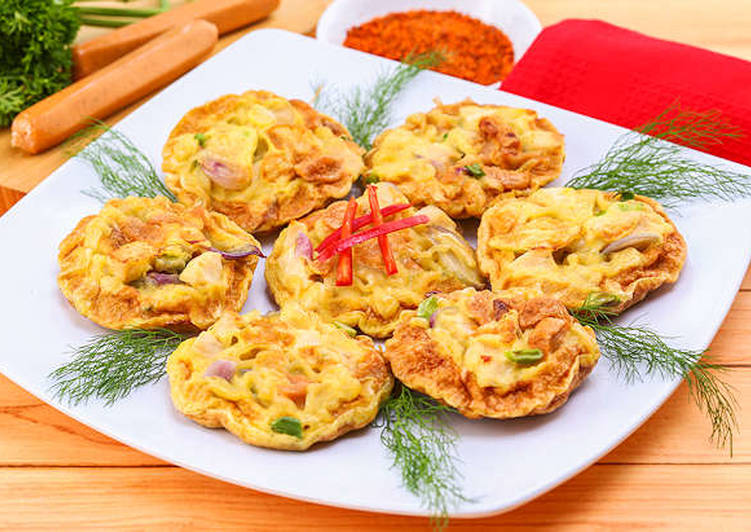 Omelette Mie Ayam Sosis