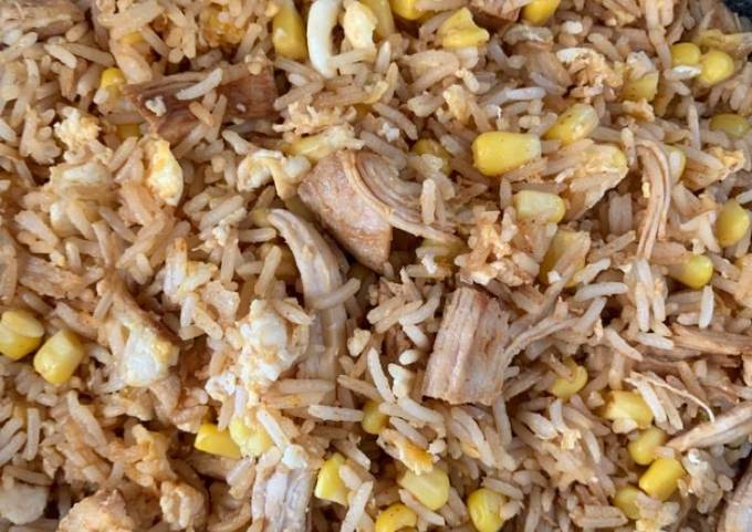 Fried Rice with Chicken and Eggs
