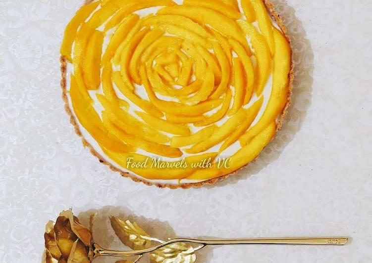 Mango Rose Tart No Bake