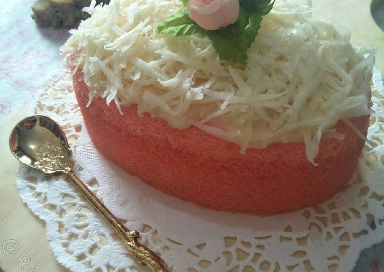 Strawberry Cheese Steamed Cake 🍓🍰