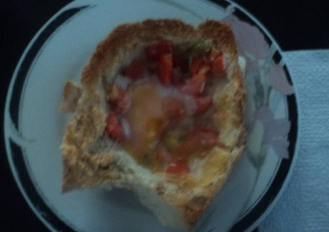 Pan con huevo a la mexicana las correa