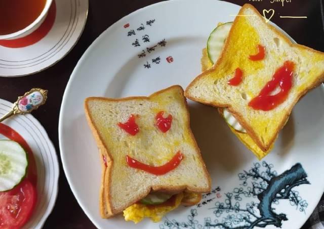 Roti Sandwich Telur Simpel #68