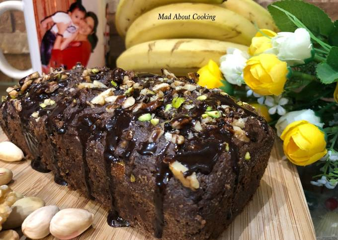 Whole Wheat Banana Choco Cake – Healthy Treat