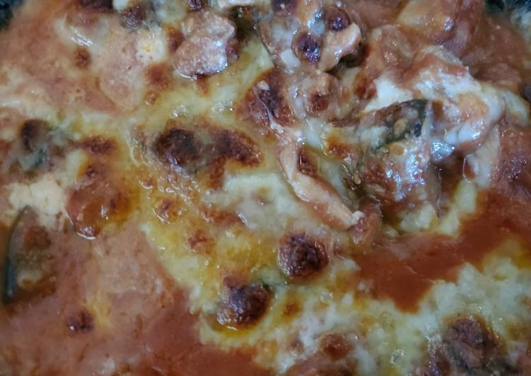 Keto Crockpot Eggplant Parmesan