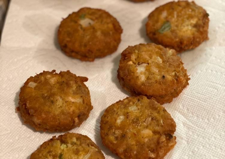 Cheez It Crab & Fish Cakes