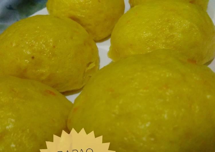 Bapao/Pao Labu Kuning Isi Coklat