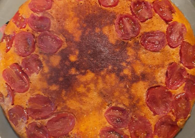 Clafoutis tomate harissa