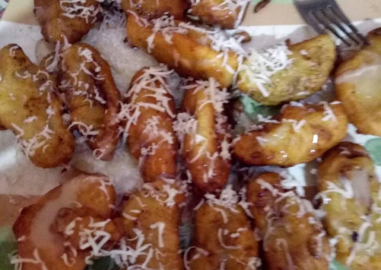 Pisang goreng tabur keju