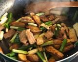 銅板家常菜:蔥爆豆乾炒肉絲食譜步驟3照片