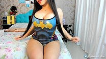 Crazy hot chick strips on cam