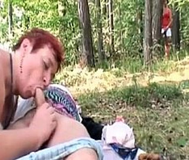 Curious Teen Joins Old Couple For Threesome Sex Outdoors