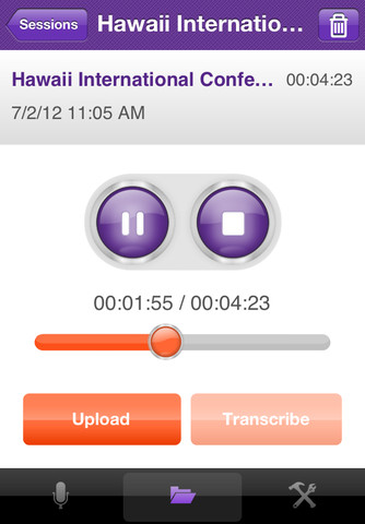 TranscribeMe mobile transcription app